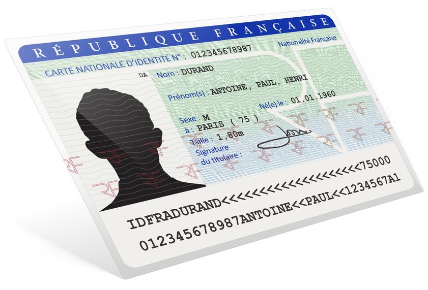Carte nationale d'identité Homme