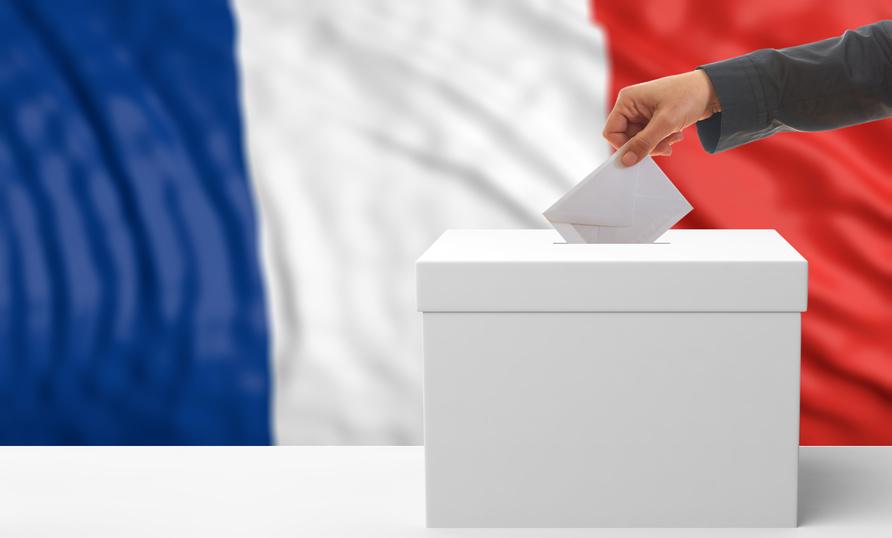 Vote urne drapeau français